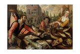 The Fish Market Giclee Print by Joachim Beuckelaer or Bueckelaer