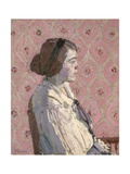 Portrait in Profile: Mary L Giclee Print by Harold Gilman