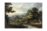 Forest Glade with Pool and Deer Giclee Print by John Glover