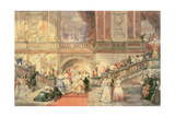 A Ball at the Town Hall Giclee Print by Eugene-Louis Lami