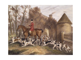 W. Sebright, Huntsman to the Milton Hounds, Engraved by J.W. Giles, 1839 Giclee Print by Richard Barrett Davis