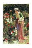 In the Bey's Garden, 1865 Giclee Print by John Frederick Lewis