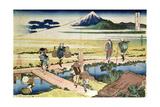 'Fuji Seen from Nakahara', from the Series '36 Views of Mt.Fuji' ('Fugaku Sanjurokkei'), Pub. by… Giclee Print by Katsushika Hokusai