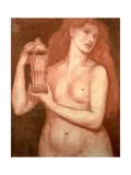 Study of a Female Nude Giclee Print by Dante Gabriel Rossetti