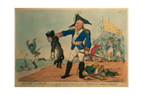 Blucher the Brave (1742-1819): Extracting the Groan of Abdication from the Corsican Bloodhound,… Giclee Print by Thomas Rowlandson