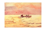 Rowing Home, 1890 Giclee Print by Winslow Homer