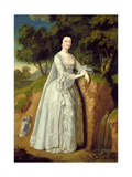 Elizabeth Montague Standing in a Wooded Landscape, C.1750 Giclee Print by Edward Haytley