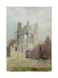 Kirkstall Abbey from the West Front Giclee Print by Joseph Rhodes