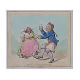 """My Poll and My Partner Joe"", Engraved by T. Adams, Pub. by Hannah Humphrey, 1796 Giclee Print by James Gillray"