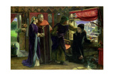 The First Anniversary of the Death of Beatrice, 1853-54 Giclee Print by Dante Charles Gabriel Rossetti