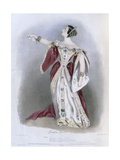 Giulia Grisi (1811-69) as Anna in 'Anna Bolena', from 'Recollections of the Italian Opera',… Giclee Print by Alfred-edward Chalon