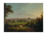 Leeds from the Meadows, C.1825 Giclee Print by Joseph Rhodes