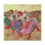 Three Dancers in Peasant Costume Giclee Print by Edgar Degas