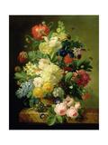 Vase of Flowers Giclee Print by Melanie De Comolera