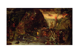 Temptation of St. Anthony Giclee Print by Jakob Isaaksz Swanenburgh