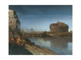 Castel Sant' Angelo at Dusk, 1882 Giclee Print by Oswald Achenbach
