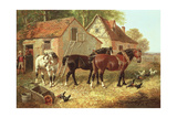 Preparing the Plough Horses Giclee Print by John Frederick Herring Jnr