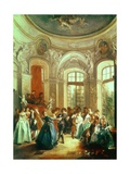 A Dance in the Summer House Giclee Print by Nicolas Lancret
