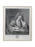 Portrait of Michel Richard Delalande (1657-1726), Superintendant of Music, Engraved by Simon… Giclee Print by Jean Baptiste Santerre