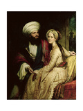 James Silk Buckingham and His Wife Giclee Print by Henry William Pickersgill