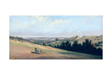 Young Man Reclining on the Downs, C.1833-35 Giclee Print by Theodore Caruelle D' Aligny