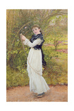 Skipping, Portrait of the Artist's Daughter, Barbara, 1877 Giclee Print by Edward Killingworth Johnson