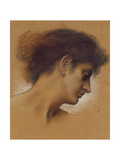 Study of a Head Giclee Print by Evelyn De Morgan