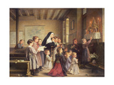 Morning Prayers Giclee Print by Andre Henri Dargelas