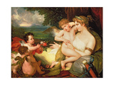 Venus Comforting Cupid Stung by a Bee, 1813 Giclee Print by Benjamin West