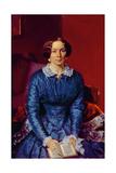 Portrait of Elizaveta Petrovna Zhdanova (1818-55) 1846-47 Giclee Print by Pavel Andreevich Fedotov