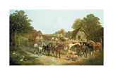 An English Homestead Giclee Print by John Frederick Herring I