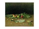 Still Life of Apples and Leaves, 1879 Giclee Print by Ilya Efimovich Repin