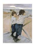 Two Boys, 1899 Giclee Print by Valentin Aleksandrovich Serov