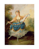 Dancer with a Garland Giclee Print by Jean-frederic Schall