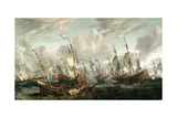 The Four Day's Battle, 1-4 June 1666 Giclee Print by Abraham Storck