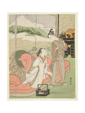 T H Riches 1913 Lover Taking Leave of a Courtesan, C.1768-9 Giclee Print by Suzuki Harunobu