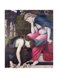 Patience on a Monument Smiling at Grief, Exh. 1884 Giclee Print by John Roddam Spencer Stanhope