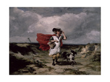 Crossing the Heath, Windy Day, 1836 Giclee Print by Paul Falconer Poole