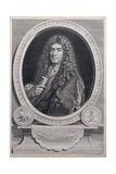 Portrait of Jean Baptiste Lully (1632-87), French Composer and Operatic Director, Engraved by… Giclee Print by Paul Mignard