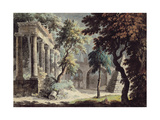 The Temple of Saturn (Roman Ruins) Giclee Print by Jonathan Skelton