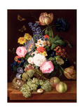 Flowers and Fruit with a Bird's Nest on a Ledge, 1821 Giclee Print by Franz Xavier Petter
