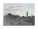After Sunset, View from the Artist's Window in Morpeth Terrace Giclee Print by Hercules Brabazon Brabazon