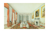 The Dining Room at Aynhoe, 23 January 1835 Giclee Print by Lili Cartwright