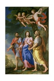 Christ on the Road to Emmaus Giclee Print by Jacques Stella