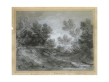 A Woodland Stream Giclee Print by Thomas Gainsborough