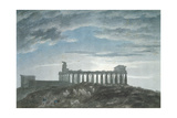 The Small Temple at Paestum Giclee Print by John Robert Cozens
