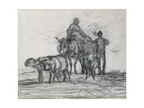 Return from the Fields, 1873 Giclee Print by Jean-François Millet