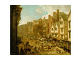 The High Street, Exeter, 1797 Giclee Print by John White Abbott
