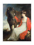 Portrait of Miss Emily Beauchamp with Her Pony Giclee Print by John Opie