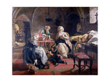 The Royal Family of France in the Prison of the Temple in 1792, 1851 Giclee Print by Edward Matthew Ward
